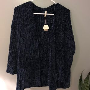 Chinelle knit cardigan navy